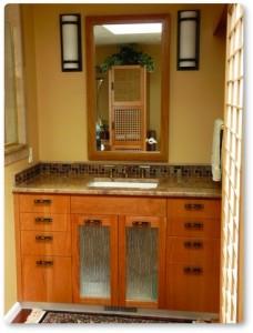custom bath cabinet