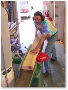 Terrance at the jointer
