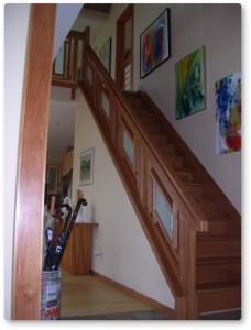 shoji stair railing