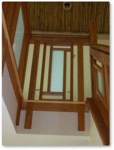 stairs and stair railing