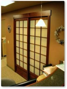office shoji screen doors