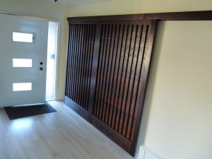 Solid Ash sliding door